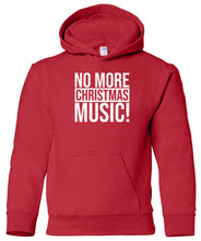 Load image into Gallery viewer, red no xmas music youth kids hooded Christmas sweatshirt hoodie