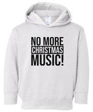 Load image into Gallery viewer, white xmas music hooded toddler Christmas sweatshirt