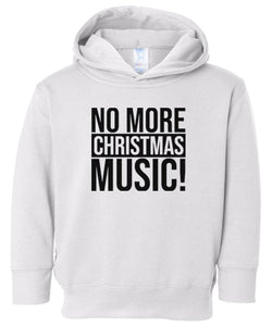 white xmas music hooded toddler Christmas sweatshirt