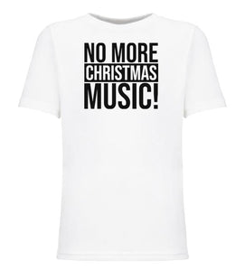 white no more music youth kids Christmas t shirt