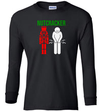 Load image into Gallery viewer, black nutcracker Christmas long sleeve t shirt