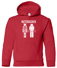 Load image into Gallery viewer, red nutcracker youth kids hooded Christmas sweatshirt hoodie
