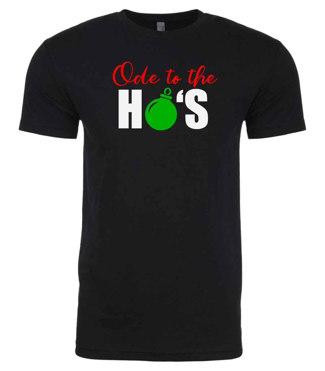 black ode to ho's t shirt for men