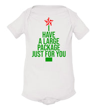 Load image into Gallery viewer, white package baby Christmas onesie