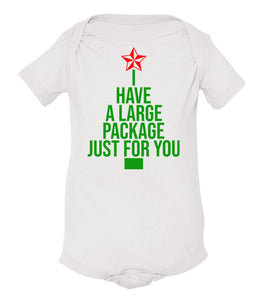 white package baby Christmas onesie