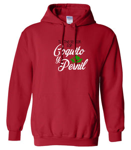 red coquito y pernil Christmas hooded sweatshirt