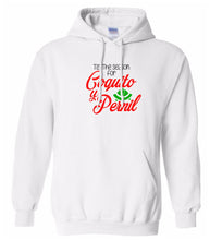 Load image into Gallery viewer, white coquito y pernil Christmas hooded sweatshirt