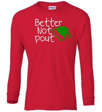 Load image into Gallery viewer, red pout Christmas long sleeve t shirt