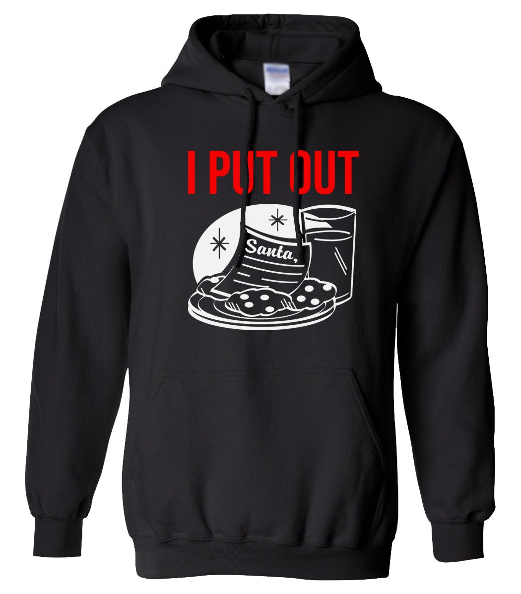 black I put out Christmas hooded sweatshirt