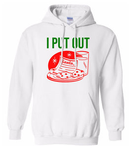 white I put out Christmas hooded sweatshirt