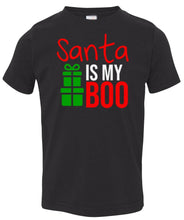 Load image into Gallery viewer, black Santa's Boo toddler Christmas t shirt