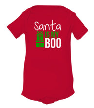 Load image into Gallery viewer, red Santa's boo baby Christmas onesie