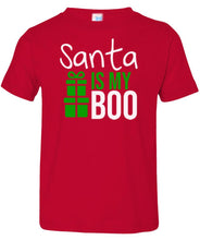 Load image into Gallery viewer, red Santa's Boo toddler Christmas t shirt