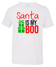 Load image into Gallery viewer, white Santa's Boo toddler Christmas t shirt