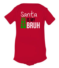 Load image into Gallery viewer, red Santa's bruh baby Christmas onesie