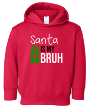 Load image into Gallery viewer, red Santa's bruh hooded toddler Christmas sweatshirt