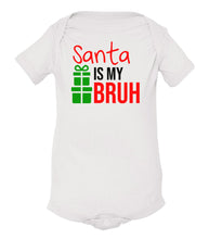 Load image into Gallery viewer, white Santa's bruh baby Christmas onesie