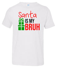 Load image into Gallery viewer, white Santa's bruh toddler Christmas t shirt