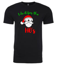 Load image into Gallery viewer, black Santa's Ho's Christmas t shirt for men