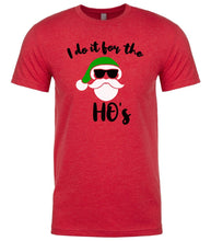 Load image into Gallery viewer, red Santa's Ho's Christmas t shirt for men