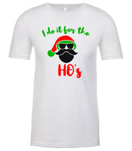 Load image into Gallery viewer, white Santa's Ho's Christmas t shirt for men