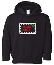 Load image into Gallery viewer, black Santa's letter hooded toddler Christmas sweatshirt