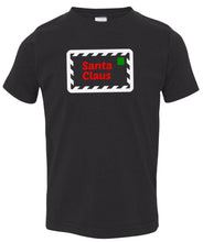Load image into Gallery viewer, black Santa's letter toddler Christmas t shirt
