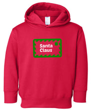 Load image into Gallery viewer, red Santa's letter hooded toddler Christmas sweatshirt