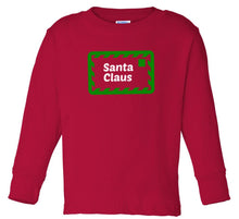 Load image into Gallery viewer, red Santa's letter long sleeve toddler Christmas t shirt