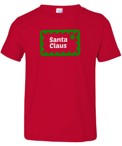 red Santa's letter toddler Christmas t shirt