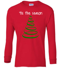 Load image into Gallery viewer, red tis the season Christmas long sleeve t shirt