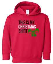 Load image into Gallery viewer, red hooded toddler Christmas sweatshirt