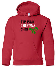 Load image into Gallery viewer, red xmas shirt youth kids hooded Christmas sweatshirt hoodie