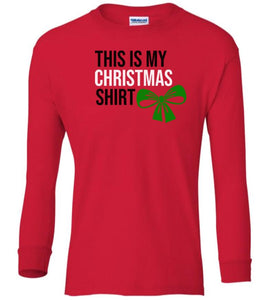 red xmas shirt Christmas long sleeve t shirt