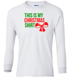 white xmas shirt Christmas long sleeve t shirt