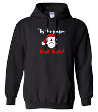 Load image into Gallery viewer, black season to get twisted Christmas hooded sweatshirt