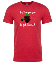 Load image into Gallery viewer, red season to get twisted Christmas t shirt for men