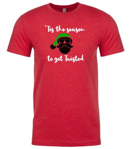 red season to get twisted Christmas t shirt for men