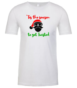white season to get twisted Christmas t shirt for men