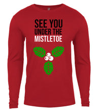 Load image into Gallery viewer, red under the mistletoe Christmas shirt for Men