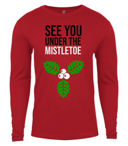 red under the mistletoe Christmas shirt for Men