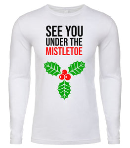 white under the mistletoe Christmas shirt for Men