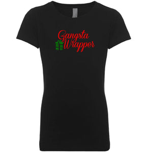 black gangsta wrapper youth girl Christmas T Shirt
