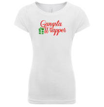 Load image into Gallery viewer, white gangsta wrapper youth girl Christmas T Shirt