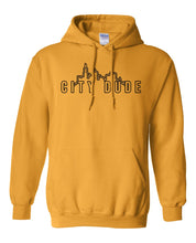Load image into Gallery viewer, gold city dude hoodie