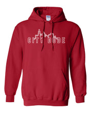 Load image into Gallery viewer, red city dude hoodie