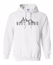 Load image into Gallery viewer, white city dude hoodie