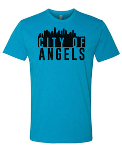 turquoise city of angels t-shirt