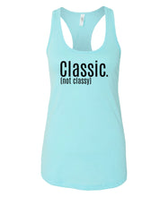 Load image into Gallery viewer, blue classic racerback tank top