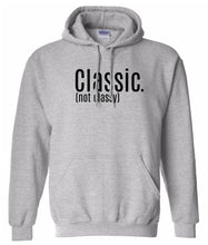 Load image into Gallery viewer, grey classic hooded sweatshirt